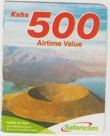 KENYA - Volcano, Safaricom (Half Size) Card , Expiry Date:28/02/2014, 500 Ksh Used - Kenya