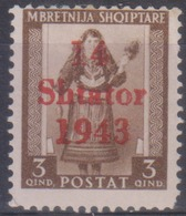 Albania 1943 Occup. Tedesca SaN°3 MH/* Vedere Scansione - Occ. Allemande: Albanie