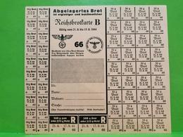 Luxembourg, Reichsbrotkarte B 1944 - 1940-1944 Occupation Allemande