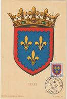 Carte-Maximum FRANCE N° Yvert 959 (BERRI) Obl Bourges 26.12.53 (Ed Louis) - 1950-59