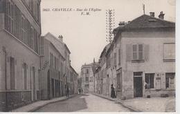 CPA Chaville - Rue De L'église (avec Animation) - Chaville