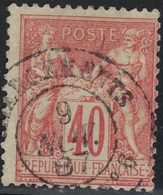SAGE - N°94 - CHARGEMENTS - PARIS N°6. - Marcophily (detached Stamps)