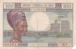 BILLET 100 FRANCS BANQUE CENTRALE DU MALI PICK 11  VOIR SCAN - Mali