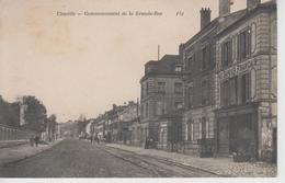 """CPA Chaville - Commencement De La Grande-Rue (avec Façade Du Magasin """"Au Sapeur Français"""" Au Premier Plan) - Chaville"""