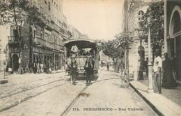 BRESIL PERNAMBUCO RUE VICTORIA  MESSAGERIES MARITIMES - Brésil