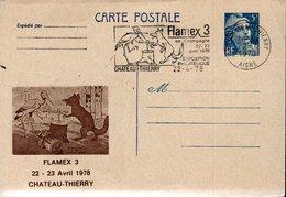 ENTIER POSTAL NEUF 1978 - TYPE MARIANNE DE GANDON - OBLITERATION MECANIQUE = LE RENARD ET LA CIGOGNE - - Postal Stamped Stationery