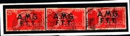 93446) ITALIA.- Trieste AMG-FTT-25 LIRE-Democratica, Soprastampa Su Due Linee - ESPRESSI - 1947-UN PEZZO-USATO - 7. Trieste