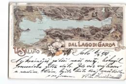 13031 UN SALUTO DAL LAGO DI GARDA - SALO X PRAHA - Souvenir De...