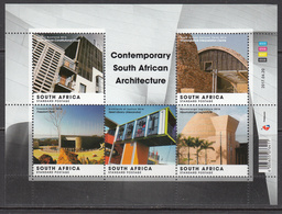 2017 South Africa Contemporary Architecture Miniature Sheet Of 5 MNH - Südafrika (1961-...)