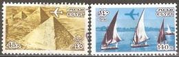 Égypte - 1978 - Les Trois Pyramides De Gizeh Et Voiliers Sur Le Nil - YT Poste Aérienne 160 Et 162 Oblitérés - Poste Aérienne
