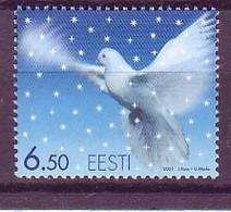 Estonia 2001 MiNr. 424  Estland Vogel Christmas Birds 1v MNH** - Estonia
