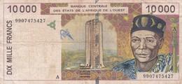 BILLET 10000 FRANCS BCEAO  PICK 114A BON  ETAT  VOIR SCAN - Otros – Africa