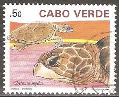 Cap Vert - 1990 - Tortue - YT 565 Oblitéré - Cap Vert
