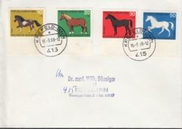 BRD 578-581 MiF Auf Orts-Brief Mit Stempel: Krefeld-Linn 16.3.1969 - [7] République Fédérale