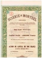 Titre Ancien - Scierie De Mortsel - Société Anonyme - Titre De 1921 - - Industrie