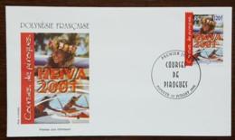 Polynésie - FDC 2001 - YT N°646 - Courses De Pirogues / Heiva - FDC
