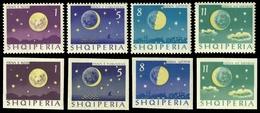 Albanien 1964 - Mi-Nr. 839-842 & 844-847 ** - MNH - Raumfahrt / Space - Albanien