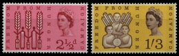 Großbritannien 1963 - Mi-Nr. 354-355 Y ** - MNH - Phosphor - Hunger - Unused Stamps