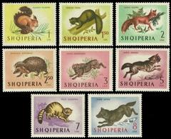 Albanien 1964 - Mi-Nr. 815-822 ** - MNH - Wildtiere / Wild Animals - Albanien