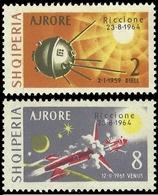 Albanien 1964 - Mi-Nr. 857-858 ** - MNH - Raumfahrt / Space - Albanien