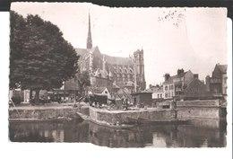 1887. Amiens. Le Marché Sur L'eau Vers La Cathédrale. De Roger à La Famille Parchemin à St Maur. 1953. - Amiens