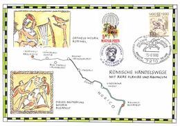 Hungary 1989 Mi. 4047 BRD Mi. 1445 Commemoration Card 14-Sep-1990 Rottweil, Roman Commercial Tracks 500 Year Post Europe - Hongrie