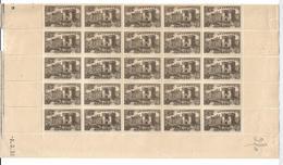 France N°445** Fragment De  Feuille De 65 Timbres Cote 91€ . - Feuilles Complètes