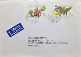 """Slovakia, Circulated Cover To Portugal, """"Nature"""", """"Flora"""", Flowers"""", """"Orchids"""", 2009 - Slowakische Republik"""