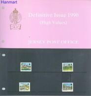 Jersey 1990 Mi 512-515 MNH ( ZE3 JRSpp512-515 ) - Voitures