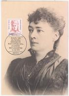 Germany Deutschland 1991 Maximum Card, Bertha Von Suttner, Austrian-Bohemian Pacifist Novelist Writer, Nobel Prize, Bonn - Cartas Máxima