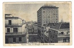 4550 - TORINO VIA IX MAGGIO E GRANDE ALBERGO 1946 - Bars, Hotels & Restaurants
