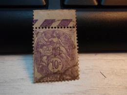 Timbre   Type Blanc 10 C Yvert Et Tellier : N° 233. Oblitéré. Avec Bord De Feuille - 1900-29 Blanc