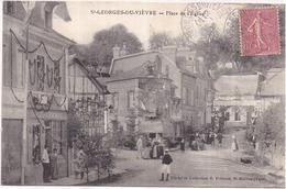 Dépt 27 - SAINT-GEORGES-DU-VIÈVRE - Place De L'Église - Très Décorée Et Très Animée - 2 Scans - Frankreich