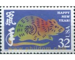 Ref. 311265 * MNH * - UNITED STATES. 1996. NEW YEAR OF THE RAT . AÑO DE LA RATA - Unused Stamps