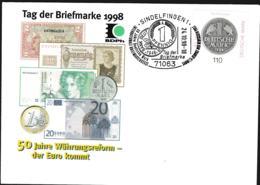 Germany Cover Posted Sindelfingen 1998 Tag Der Briefmarke (G110-36) - Día Del Sello