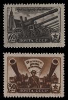 Russia / Sowjetunion 1945 - Mi-Nr. 997-998 ** - MNH - Tag Der Artillerie - 1923-1991 UdSSR