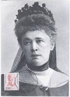 Germany Deutschland 1991 Maximum Card, Bertha Von Suttner Austrian-Bohemian Pacifist Novelist Writer Nobel Prize, Berlin - Cartas Máxima
