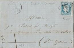 HAUTE GARONNE - LETTRE De CAZERES Pour SALIES DU SALAT - GC 797 - 1849-1876: Klassik