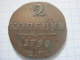 Russia , 2 Kopeks 1798 - Rusland