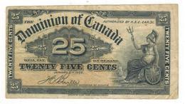 Dominion Of Canada , 25 Cents. 1900 , VF. - Canada
