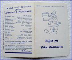 Petit Calendrier  De Poche 1965  - Specimen De Pour Les Pharmaciens - Calendriers