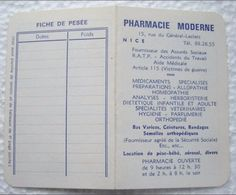 Petit Calendrier  De Poche 1965  - PHARMACIE NOUVELLE à  NICE - Calendriers