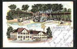 Lithographie Kassel-Wehlheiden, Restaurant Chocoladen-Fabrik Von A. Demmler - Kassel