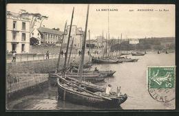 CPA Audierne, Le Port, Hotel De France Am Le Port - Audierne