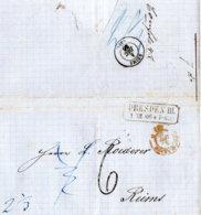 1866 DRESDEN Champagner Bestellung Bf M.Taxkorrektur Transit N.Reims - Germany