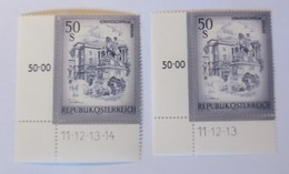 Österreich 1478 Xx 2 Versch. Eckrand Druckdatum ♥ (24971) - 1945-.... 2. Republik