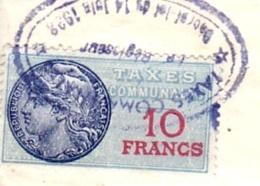 FISCAUX Sur Documents  Taxes Communales N°10        Légalisation Signature  CRAPONNE Sur Arzon (Haute Loire) - Fiscaux