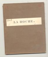 Carte De Géographie Toilée - LA ROCHE EN ARDENNE    1880 - Levée Et Nivelée 1869  (b271) - Geographische Kaarten