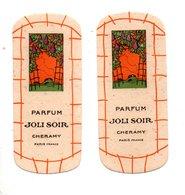 "2 CARTES PARFUMÉES . PARFUM "" JOLI SOIR "" . CHERAMY PARIS - Réf. N°10163 - - Cartes Parfumées"