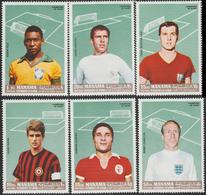1968 Manama - Famous Soccer Players, MNH Perf, Dentelé, Joueurs De Football Célèbres, Berühmte Fußballspieler - Fussball